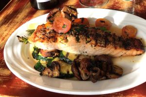Flamed Grilled Salmon - delivery menu
