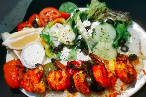 Grilled Shrimp Kabob Plate - delivery menu