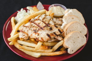 Charcoal Broiled Chicken Dijon Platter - delivery menu