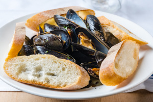 White Mussels - delivery menu