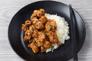 C14. Sesame Chicken Combo Platter - delivery menu