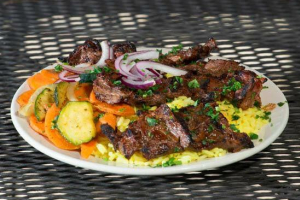Beef Shish Kabob Entree - delivery menu