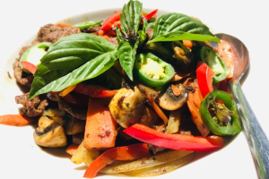 Basil and Jalapeno Beef - delivery menu