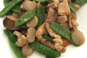 98. Chicken with Black Mushrooms and Snow Peas - delivery menu