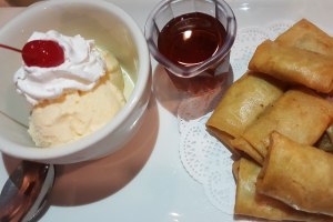 Crispy Banana Rolls and Ice Cream - delivery menu