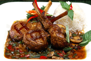 Spicy Basil Lamb Chops - delivery menu