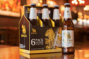 Singha (Thai Lager, 6% Alc) 11.2 oz Bottle or 6-Pack Bottles - delivery menu