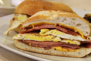 Egg and Cheese with Ham on Roll - delivery menu