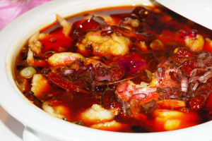 R4 Hot Chili Fish with Rice - delivery menu