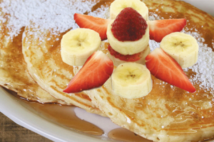Strawberry Bananas Pancakes - delivery menu