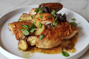 ROASTED CHICKEN DINNER FOR 4 - delivery menu