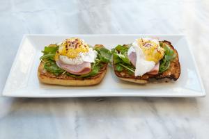 Eggs Benedict ,Hudson Valley eggs - delivery menu