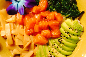 Scottish Salmon Poke Bowl - delivery menu
