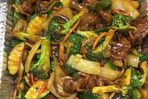 Party Tray Hot Garlic Beef - delivery menu