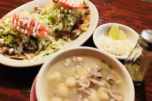Sopa de Pozole con Tostadas - delivery menu