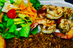 Jerkin Shrimp Dinner - delivery menu
