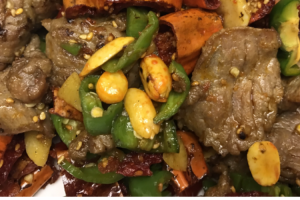 135. Sauteed Slice Beef with Crispy Peppers黄飞鸿椒牛肉 - delivery menu