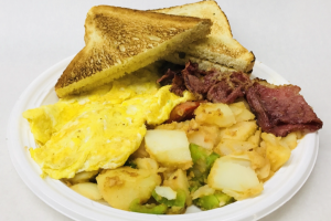 2 Eggs and Bacon Platter  - delivery menu