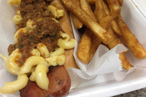 Chili Mac Dog Combo - delivery menu