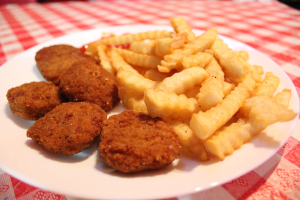 Chicken Nuggets with French fries - delivery menu