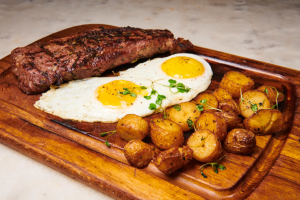 14oz Steak and Eggs - delivery menu