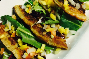 A7. Scallion Mango Pita - delivery menu