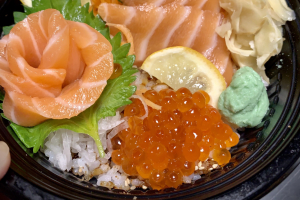 Salmon and Ikura Don - delivery menu