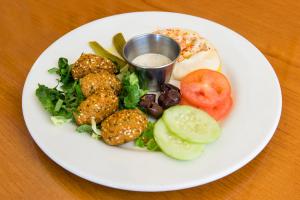 Falafel (4 pcs) W/Hummus - delivery menu