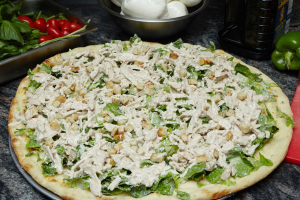 30. Caesar Grilled Chicken Salad Pizza - delivery menu