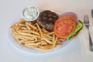 Greek Bifteki Burger Platter - delivery menu