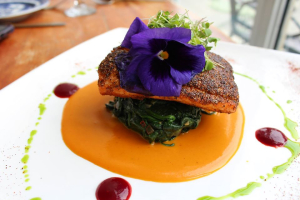 Crab Crusted Salmon - delivery menu
