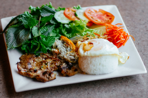 Pork Chop on Rice Combo - delivery menu