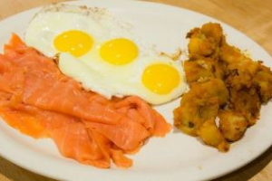 Eggs with Side of Nova - delivery menu