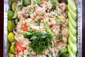 Vegetable Fried Rice Tray - delivery menu