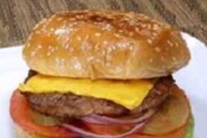 cheese burger with fries - delivery menu