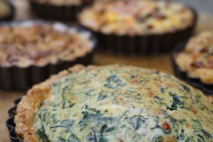 Mini Spinach and Feta Quiche - delivery menu