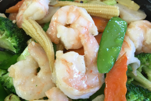 D28. Shrimp with Vegetable Dinner - delivery menu