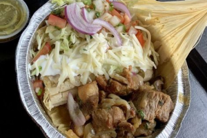 Pork carnitas & tamal - delivery menu