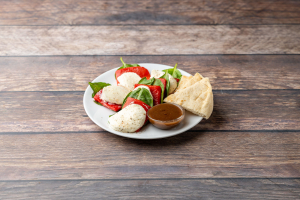 Fresh Mozzarella, Roasted Red Peppers and Fresh Basil - delivery menu