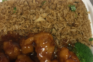 D8. Orange Chicken Combo  - delivery menu