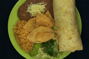 2. Burrito Combination Plate - delivery menu