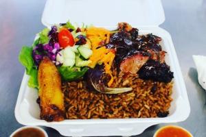 Jerkin Pork Lunch - delivery menu