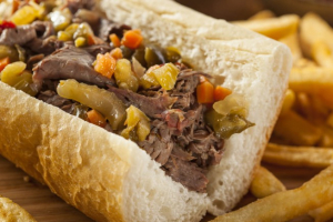 Italian Beef Sandwich with Fries and Pop Special - delivery menu