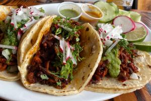 3 Chorizo  Tacos (Mexican sausage) - delivery menu