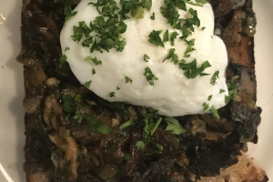 Mushroom Toast w/ poached Egg - delivery menu
