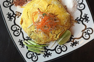 Pad Thai Koong Sod Haw Khai Entree - delivery menu
