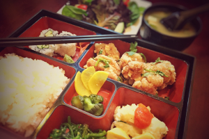 Japanese Style Fried Chicken Bento Box - delivery menu