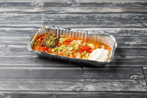 Enchilada Supreme with Rice and Beans - delivery menu
