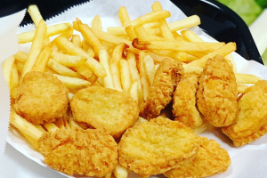 62. 20 Pieces Chicken Nuggets with Fries and Can Soda - delivery menu