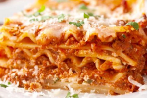 Baked Homemade Meat Lasagna - delivery menu